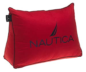 Amazon.com - Nautica Embroidered Wedge Shaped Pillow, Poppy/Navy - Throw Pillows