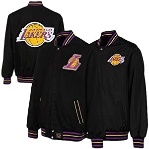 New NBA Los Angeles Lakers Wool with Leather & Nylon Reversible Jacket Size 4XL by J.H. Design
