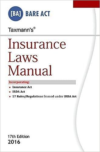 Insurance Laws Manual Paperback – 2016