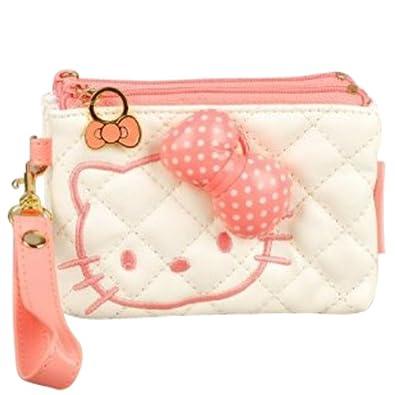 Hello Kitty Wallet Change Coin Purse Strap White
