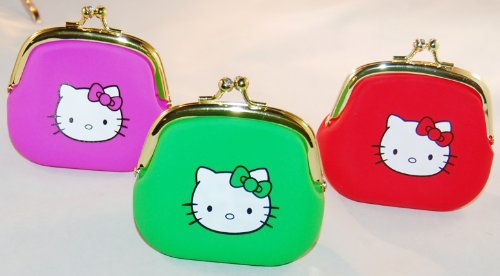 Hello Kitty Portable Clutch Wallet Coin Purse with Jewel Closure