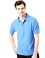 XXXL Blue Harbour Cotton Rich Marl Polo Shirt with Stay New&#8482;