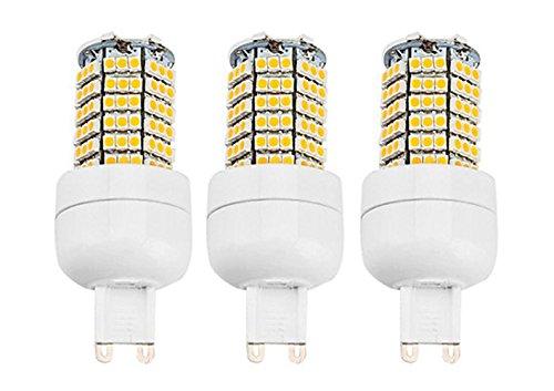 How Nice 5W Corn Bulb G9 140X3528Smd 400-450Lm 6000-6500K Cool White Light Led (110-240V) -Pack Of 3