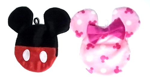 Disney fluffy fluffy feel good カイロケース - 0 - Mickey Minnie pair set (Size: height 10 cm × 10 cm) black - 0 - pink
