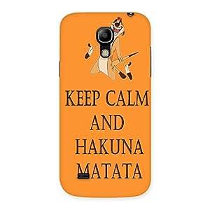 Enticing HKN MTT Orange Back Case Cover for Galaxy S4 Mini
