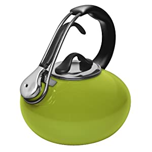 Chantal Enamel on Steel 1.8-Quart Loop Teakettle, Lime Green