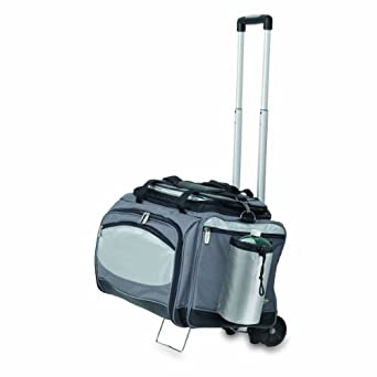 Vulcan All In One Gas Grill and Cooler Tote with Trolley by Picnic Time