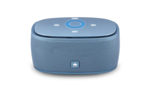 Kingone K5 Bluetooth Speaker With Tf Car Mp3 Player And Handsfree - 360-Degree And Both Of Top & Bottom Surround Sound & Super Bass (Blue)