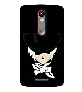 Fuson Premium Mr Holmes Printed Hard Plastic Back Case Cover for Motorola Moto X Force