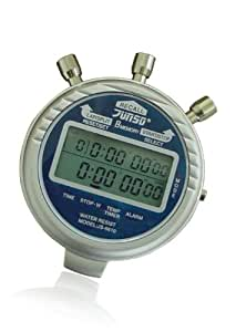 JUNSD Extra Sturdy Metal Digital Stopwatch - Silver/Blue