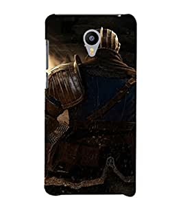 EPICCASE The Warrior Mobile Back Case Cover For Meizu m2 Note (Designer Case)