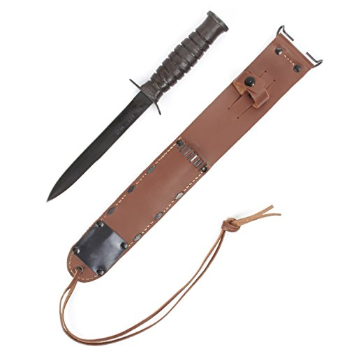 U.S. Wwii M3 Fighting Knife & M6 Leather Scabbard