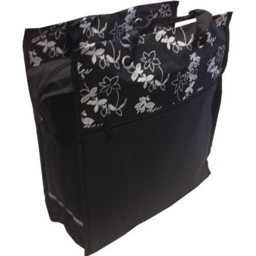 Bike (Fahrrad-) Shopper Bag Pannier 2-In-1 Black