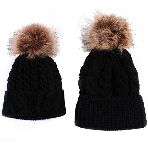 internet-mom-and-baby-knitting-keep-warm-hat-black