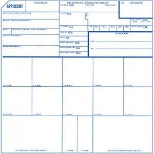 Amazon.com : 1 X Fingerprint Cards, Applicant FD-258, 5 pack : Office