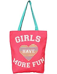 Girl Have Fun Canvas Tote Bag