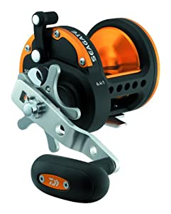 Daiwa SGT50H Seagate Star Drag Saltwater Conventional Reel, Black and Orange Finish by Daiwa