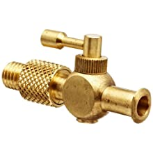 Stopcock One-Way Female Luer To 1/4-32 Thread Brass