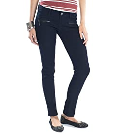 Abby Zipper Denim Leggings