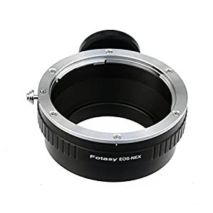 Fotasy NAEFT Pro Canon EOS Lens to Sony NEX E-Mount Mirrorless Camera Adapter with Tripod Mount (Black)