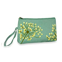 Embroidered Dandelion Wristlet (Deep Sea-Bronze)