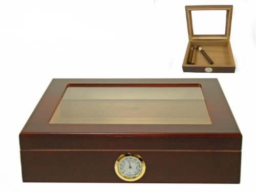 Humidor hold 20 cigars glass top