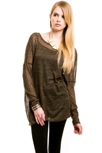 Oversized Knit Top in Olive