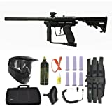 Spyder MR100 Pro Paintball Marker Gun 3Skull Sniper Set - Black
