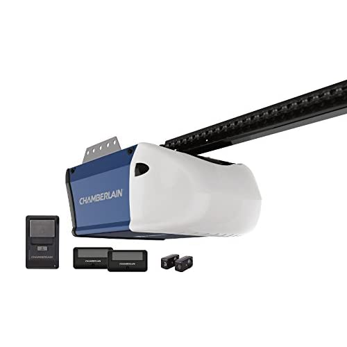 Chamberlain PD512 Garage Door Opener, ½ HP, Durable Chain Drive Operation, Includes 2-1 Button Remotes, Wall Control Panel