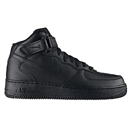 Nike Air Force 1 Mid Black Black Womens Trainers - 366731-001 Size 11.5