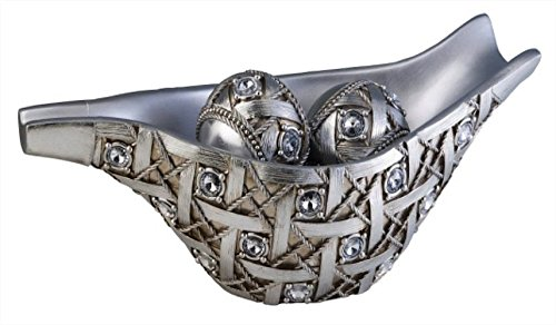Ore International K-4259B Dazzle Decorative Bowl with Spheres, 7.75-Inch Height, Silver