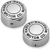 Swingarm Pivot Bolt Cover Kit - H-D? Motor Co. Logo