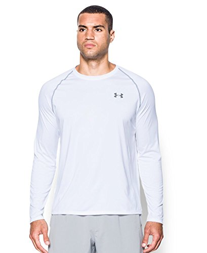 Under Armour Men's Tech Long Sleeve T-Shirt, White (100), Large