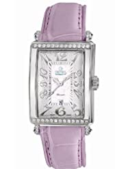 Gevril Women's 6209NT.14A White Mother-of-Pearl Genuine Alligator Strap Watch