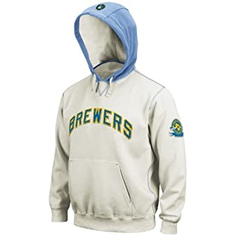 MLB Milwaukee Brewers Golden Child Long Sleeve Hooded Fleece Pull Over by Majestic