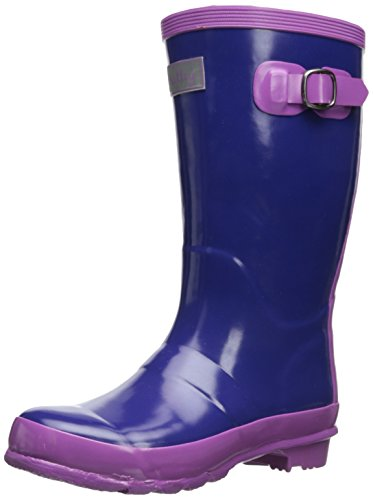 Hatley Little Girls' Splash Boots Girls' - Ultramarine And Hellebore, Purple, 10 back-1067133