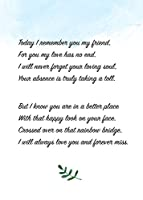 Pet Loss Gifts Card With Rainbow Bridge For Dog Theme Poem Great Loss of Pet Gifts and Sympathy Cards for Loss of Pets