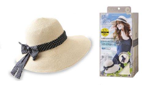 【COOL UV 折りたためる リボンスタイルハット】日除け 帽子 日焼け防止 帽子 日よけ帽子 UV UVカット 麦わら帽子 ハット オシャレ ウォーキング帽子 日焼け対策 紫外線対策