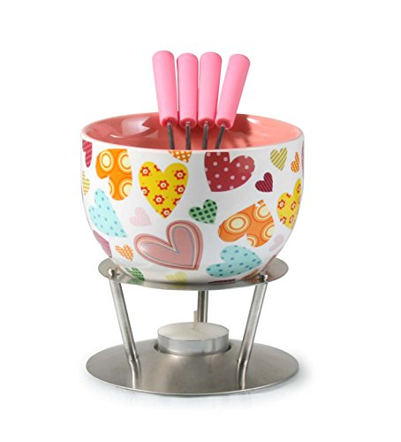 Artestia Chocolate Fondue Set - Bold Hearts (6 Pieces)