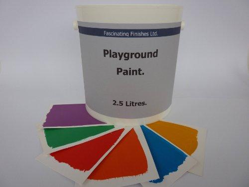 1 x 2.5lt Playground Paint For Playgroup School Nursery Line Marking 9 x Colour Choices