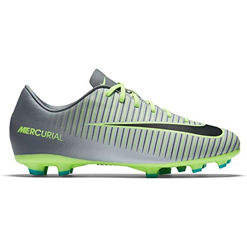 Nike Jr. Mercurial Vapor XI FG Soccer Cleat (3.5Y) Pure Platinum (Nike Vapor Ronaldo compare prices)