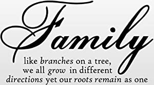 Family Like Branches On A Tree, we all grow in different directions yet our roots remain as one