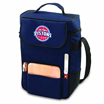 NBA Detroit Pistons Duet Insulated 2-Bottle Wine and Cheese Tote
