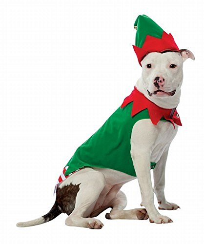Elf Dog Christmas Costume Size X-Large