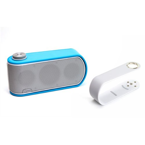 Klipsch Gig Portable Wireless Music System With Aptx Bluetooth And Additional Color Band (White Speaker With White And Blue Color Bands)