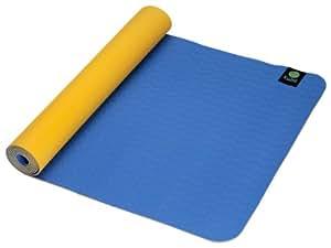 Kulae tpECOmat Kids Eco Yoga Mat - Tangerine/Blueberry (3mm x 62 x 24-Inch)