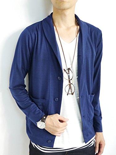 (モノマート) MONO-MART スプリング カーディガン ショール襟 コットン 春 カラー メンズ