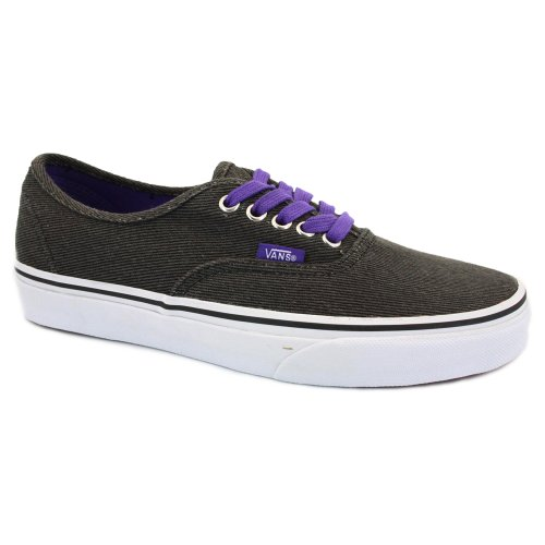 Vans Washed Twill Authentic QER71O Womens Laced Textile Trainers