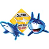 Creative Converting Shark Splash 3 Count Cutout Party Decorations