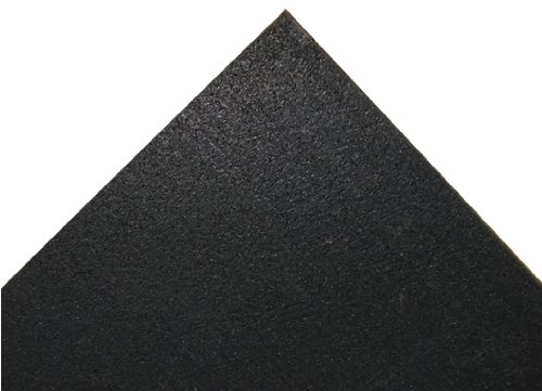 Rubber Cal Elliptical Heavy Duty Floor Mat, Black, 3/16-Inch x 4 x 6.5-Feet